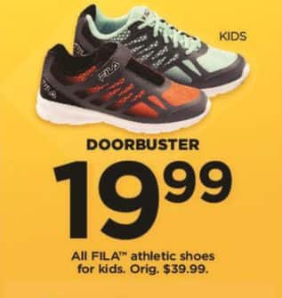 Kohl's Black Friday: All FILA Kids Athletic Shoes for $19.99