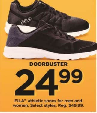 Kohl's Black Friday: FILA Men And Women Athletic Shoes for $24.99