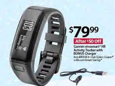 BJs Wholesale Black Friday: Garmin Vivosmart HR Activity Tracker w/ Bonus Charger for $79.99