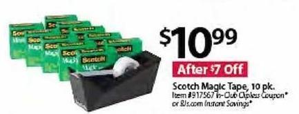 BJs Wholesale Black Friday: Scotch 10-pk. Magic Tape for $10.99