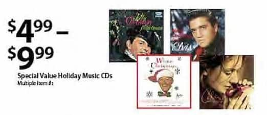 BJs Wholesale Black Friday: Special Value Holiday Music CDs for $4.99 - $9.99