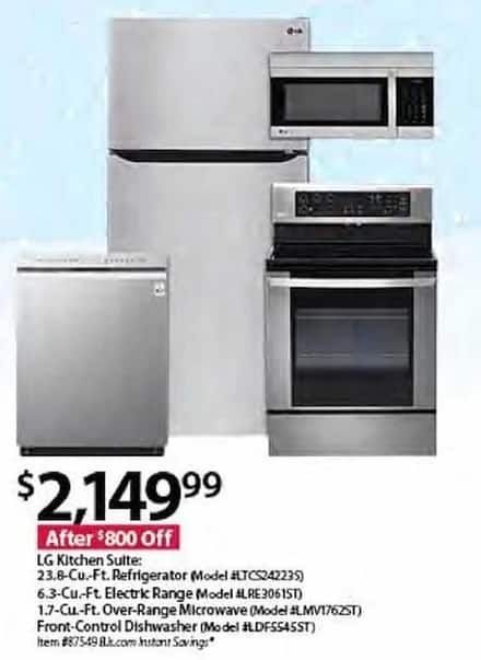 BJs Wholesale Black Friday: LG Kitchen Suite for $2,149.99