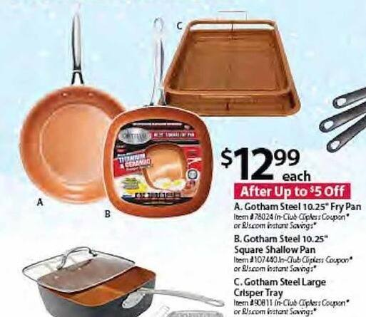 BJs Wholesale Black Friday: Gotham Steel 10.25 Fry Pan for $12.99