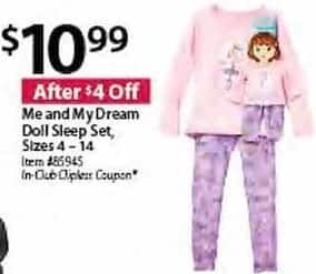 BJs Wholesale Black Friday: Me And My Dream Doll Sleep Set for $10.99