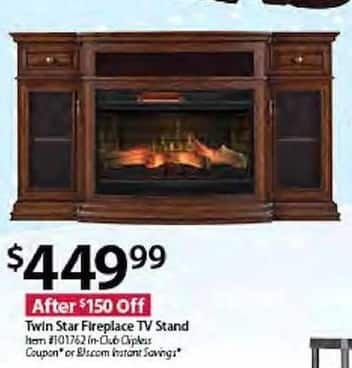 Bjs Wholesale Black Friday Twin Star Fireplace Tv Stand For 449 99