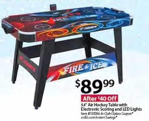 BJs Wholesale Black Friday: Triumph 54-in. Air Hockey Table w/ Electronic Scoring & LED Lights for $89.99