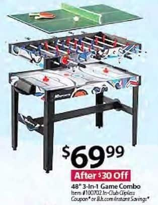 BJs Wholesale Black Friday: MD Sports 48-in. 3-in-1 Game Combo for $69.99