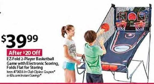 BJs Wholesale Black Friday: EZ-Fold 2-Player Basketball Game w/ Electronic Scoring for $39.99