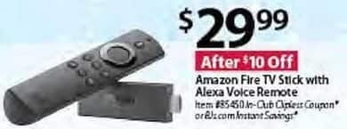BJs Wholesale Black Friday: Amazon Fire TV Stick w/ Alexa Voice Remote for $29.99