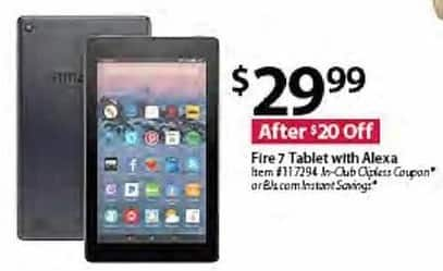 BJs Wholesale Black Friday: Amazon Fire 7 Tablet w/ Alexa for $29.99
