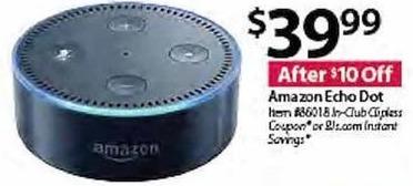 BJs Wholesale Black Friday: Amazon Echo Dot for $39.99