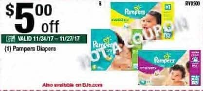 BJs Wholesale Black Friday: Pampers Diapers - $5.00 Off