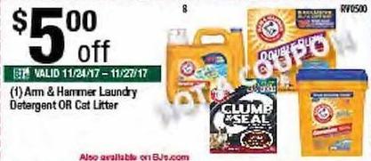 BJs Wholesale Black Friday: Arm & Hammer Laundry Detergent - $5.00 Off