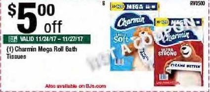 BJs Wholesale Black Friday: Charmin Mega Roll Bath Tissues - $5.00 Off