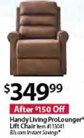 BJs Wholesale Black Friday: Handy Living Pro Lounger Lift Chair for $349.99