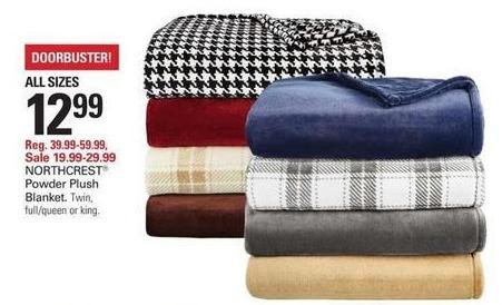 Shopko Black Friday: Northcrest Powder Plush Blanket for $12.99