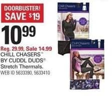 Shopko Black Friday: Chill Chasers By Cuddl Duds Stretch Thermals for $10.99