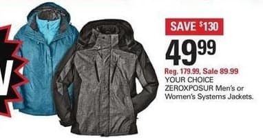 Shopko Black Friday: Zeroxposure Womens Systems Jackets for $49.99