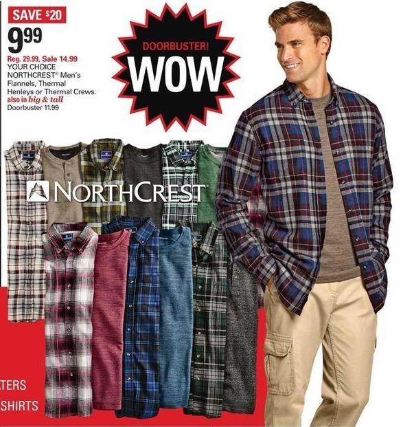 Shopko Black Friday: Northcrest Men's Thermal Crews for $9.99