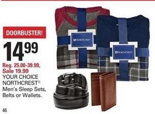 Shopko Black Friday: Northwest Men's Sleep Sets for $14.99