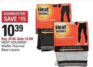 Shopko Black Friday: Heat Holders Waffle Thermal Base Layers for $10.39