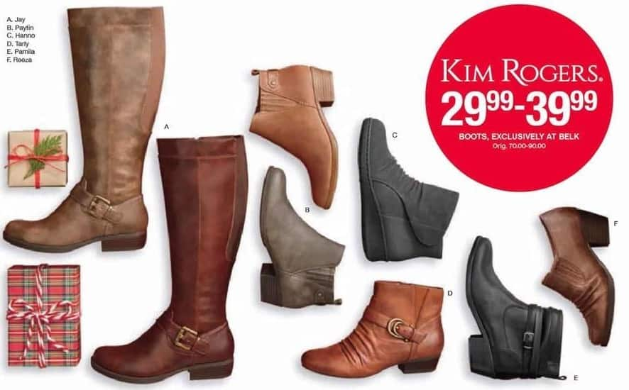 Belk Black Friday: Kim Rogers Womens Boots for $29.99 - $39.99