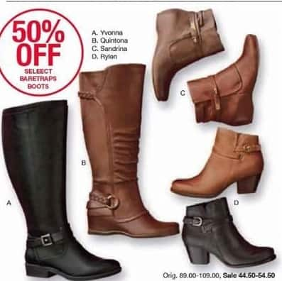 Belk Black Friday Select Baretraps Boots For 4450 5450