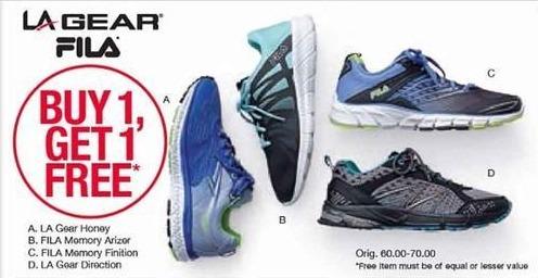 Belk Black Friday: LA Gear or Fila Shoes, Select Styles - B1G1 Free