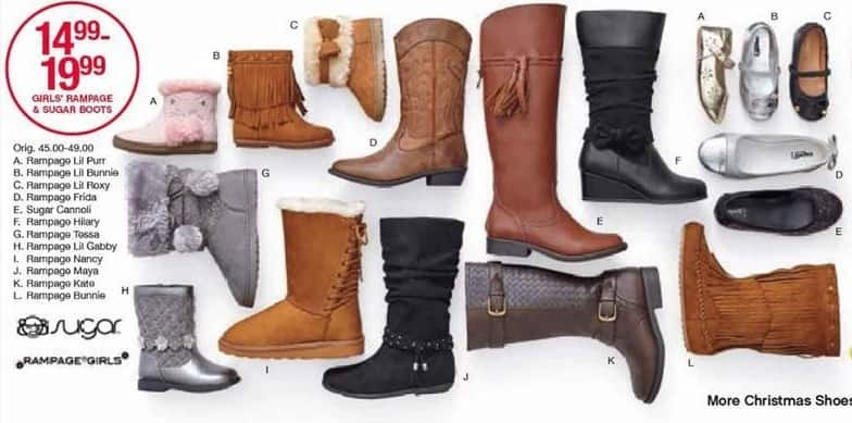 Belk Black Friday: Rampage and Sugar Girls' Boots, Select Styles for $14.99 - $19.99