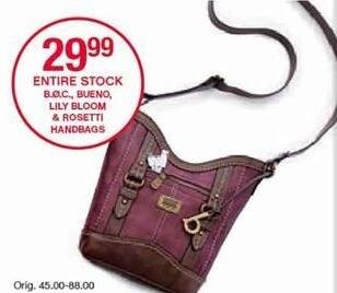 Belk Black Friday: Entire Stock Handbags From B.O.C. and Bueno, Select Styles for $29.99
