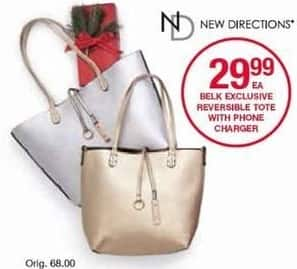 Belk Black Friday: New Directions Reversible Tote w/ Phone Charger for $29.99