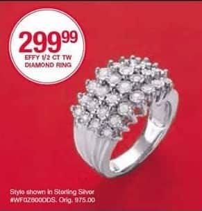 Belk Black Friday: Effy Diamond 1/2 Ct. Tw. Ring for $299.99