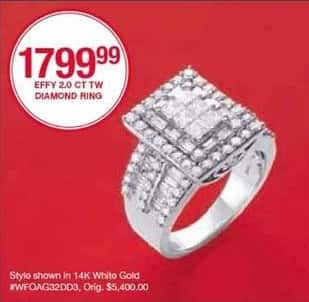 Belk Black Friday: Effy Diamond 2.0 Ct. Tw. Ring for $1,799.99