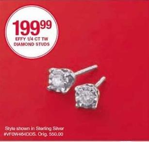 Belk Black Friday: Effy Diamond 1/4 Ct. Tw. Studs for $199.99