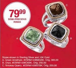 Belk Black Friday: Semi-Precious Rings for $79.99