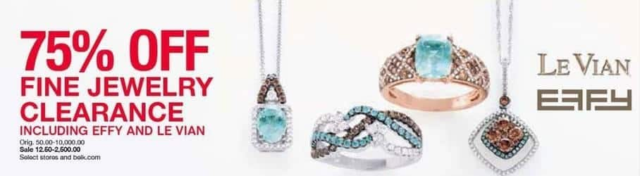 Belk Black Friday: Fine Jewelry Clearance, Select Styles - 75% OFF