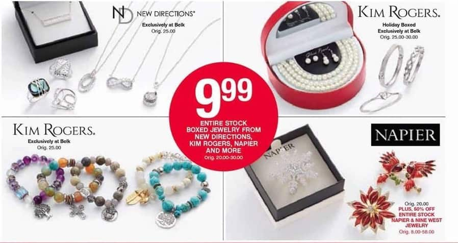 Belk Black Friday: Boxed Jewelry From New Directions, Kim Rogers, Napier & More for $9.99
