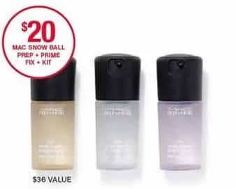 Belk Black Friday: MAC Snow Ball Prep & Primes Fix & Kit for $20.00