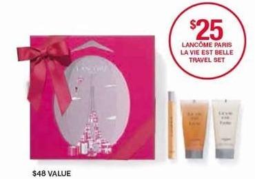 Belk Black Friday: Lancome Paris La Vie Est Belle Travel Set for $25.00
