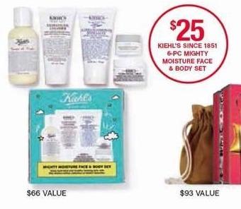 Belk Black Friday: Kiehl's 6-pc. Mighty Moisture Face & Body Set for $25.00