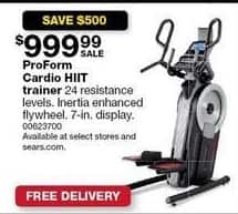 Sears Black Friday: ProForm Cardio HIIT Trainer for $999.99