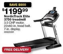 Sears Black Friday: NordicTrack Elite 3750 Treadmill for $1,199.99