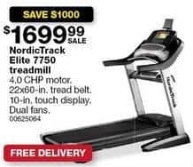 Sears Black Friday: NordicTrack Elite 7750 Treadmill for $1,699.99