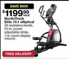 Sears Black Friday: NordicTrack Elite 13.1 Elliptical for $1,199.99