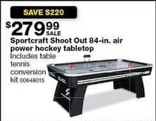 Sears Black Friday: Sportcraft Shoot Out 84-in. Air Power Hockey Tabletop w/ Table Tennis Conversion Kit for $279.99