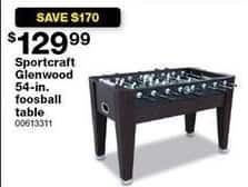 Sears Black Friday: Sportcraft Glenwood 54-in. Foosball Table for $129.99
