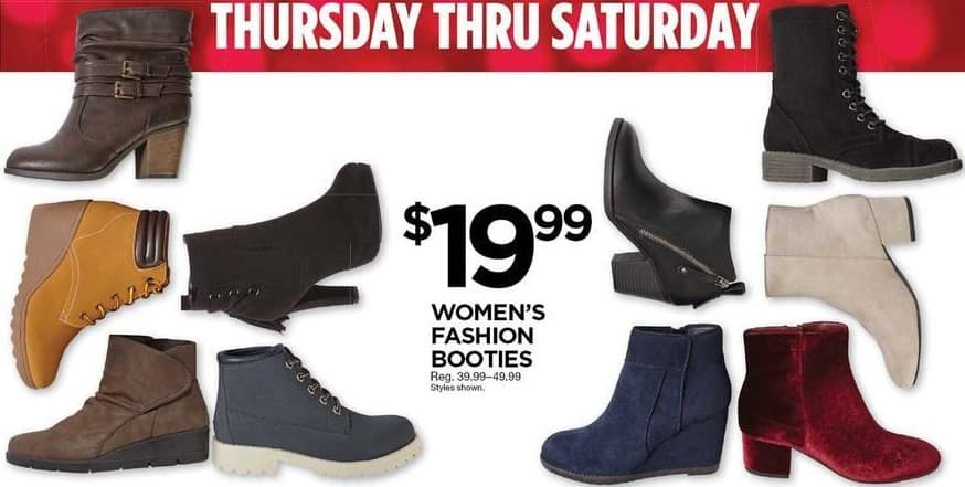 Sears Black Friday: Womens Fashion Booties for $19.99