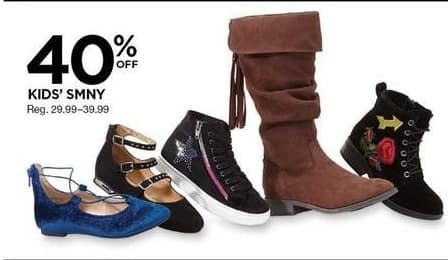 Sears Black Friday: SMNY Kids Shoes - 40% OFF