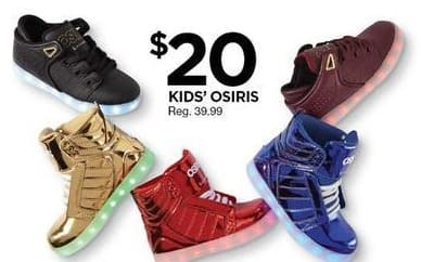 Sears Black Friday: Osiris Kids Shoes for $20.00