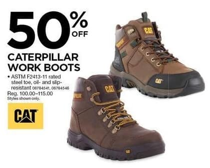 Sears Black Friday: Caterpillar Work Boots - 50% OFF